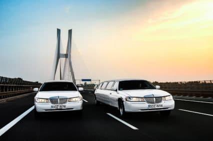 Nasze limuzyny mijające Most Rędziński we Wrocławiu